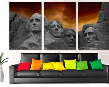 Mount Rushmore Monument Canvas Print. 3 Panel Split, Triptych. South Dakota, USA Wall Art home decor